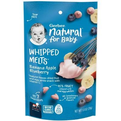 Gerber Whipped Melts Banana Apple Blueberry Baby Snacks - 1oz