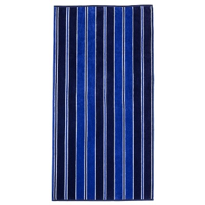"Cotton Stripe Oversized 34"" x 64"" Beach Towel by Blue Nile Mills"