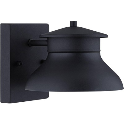 "John Timberland Modern Outdoor Wall Light Fixture LED Black 5"" Non Glass Dark Sky for Exterior House Porch Patio Deck Barn"
