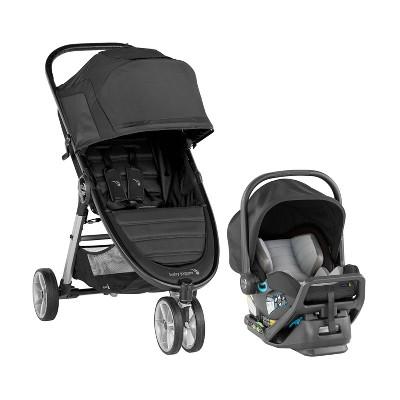 Baby Jogger City Mini 2 3-Wheel Travel System With City GO 2 Infant Car Seat - Jet Black