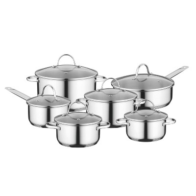 BergHOFF Essentials Comfort 12Pc  18/10 Stainless Steel Cookware Set
