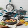 Rachael Ray Create Delicious 11pc Hard Anodized Nonstick Cookware Set Teal Handles - image 2 of 4