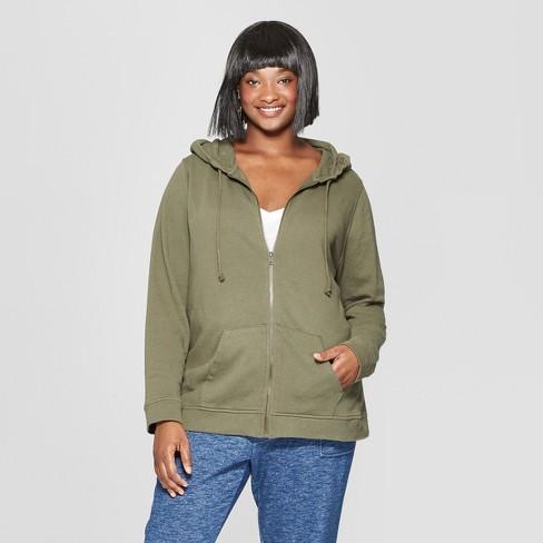 bf42aff2c7f66 Women's Plus Size Long Sleeve Zip-Up Hoodie Sweatshirt - Universal Thread™  : Target