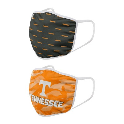 NCAA Tennessee Volunteers Adult Face Covering 2pk