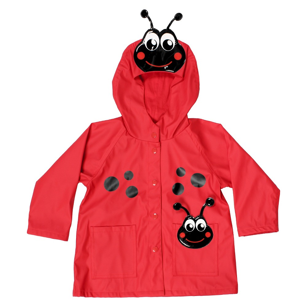 Western Chief Toddler Girls' Ladybug Rain Coats - Red 3T