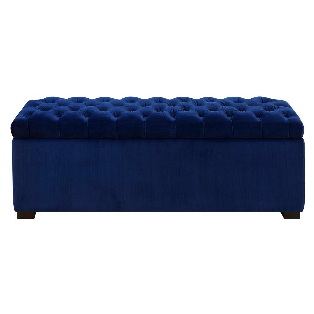 Carson Shoe Storage Bench Navy (Blue) - Picket House Furnishings