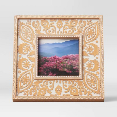 "4"" x 4"" Trellis Motif Resin Frame Cream - Opalhouse™"
