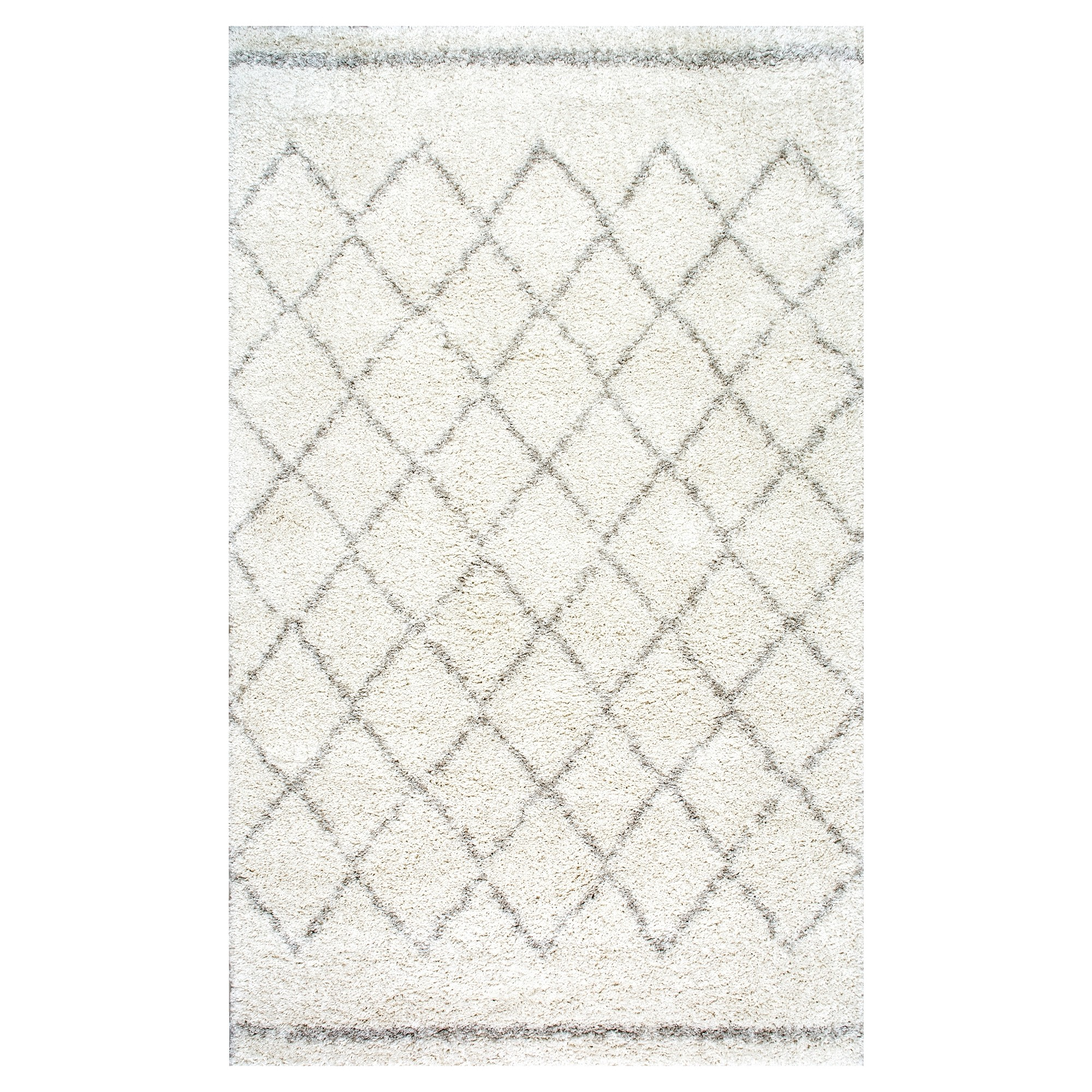 White Solid Loomed Area Rug - (5'x8') - nuLOOM, Size: 5' x 8', White Beige
