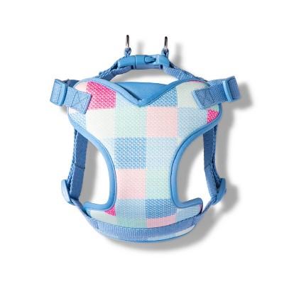 Patchwork Whale Pet Harness - Medium - Pink/Blue - vineyard vines® for Target