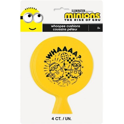 Minions 2 4ct Whoopee Cushions Party Favors