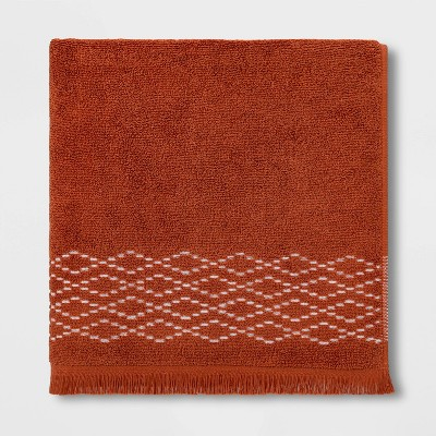 Diamond Weave Bath Towel Orange - Threshold™