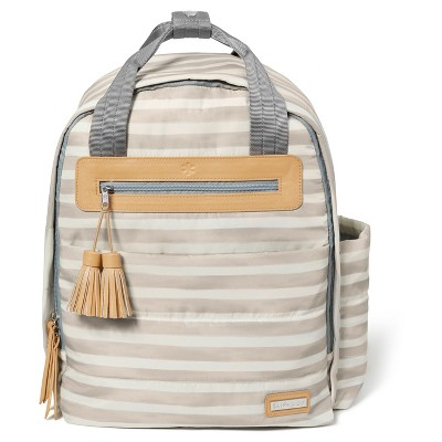 Skip Hop Riverside Ultra Light Oyster Stripe Diaper Backpack