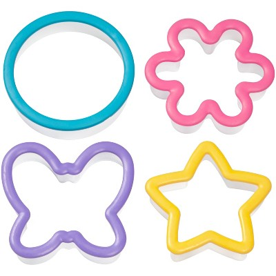 Wilton 4pc Assorted Grippy Cookie Cutter Set
