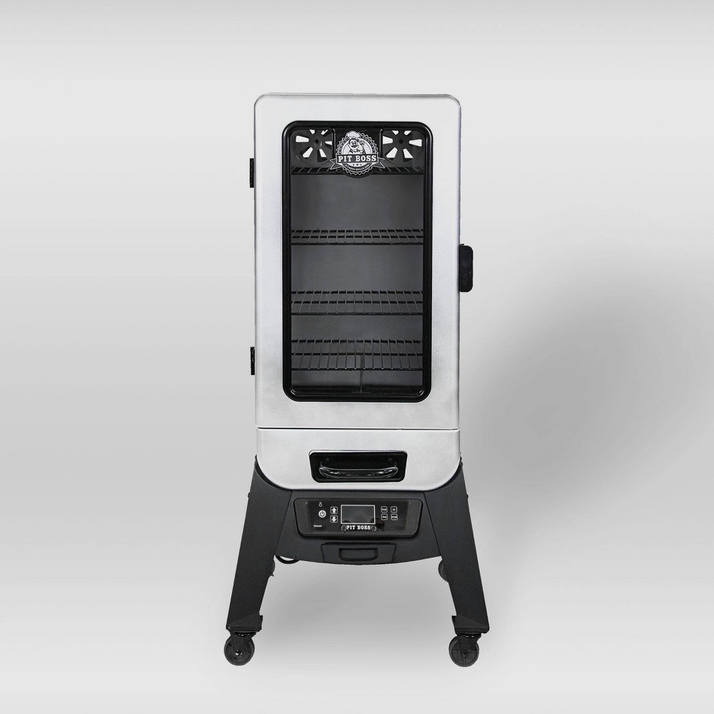Pit Boss 3.2 Digital Electric Smoker with Window 77232 - Silver