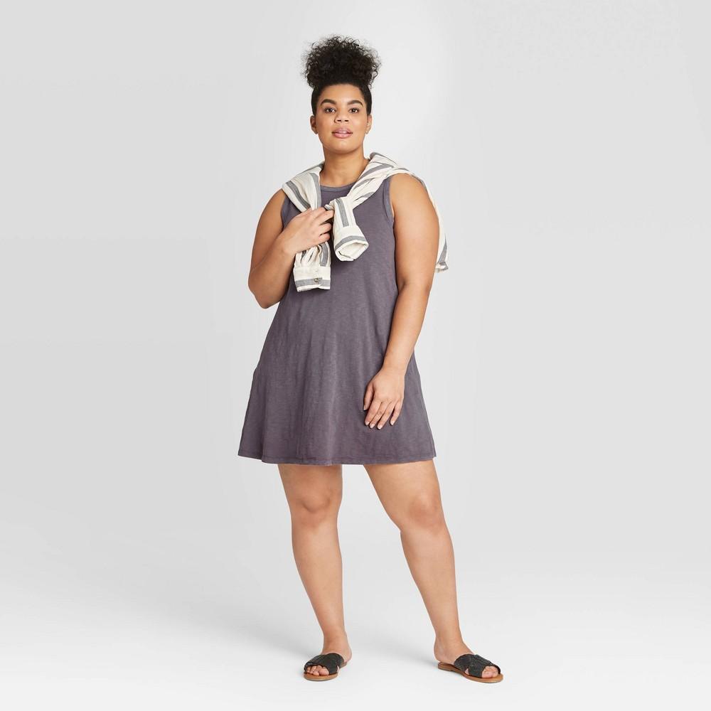 Women's Plus Size Tank Dress - Universal Thread Gray 1X was $15.0 now $10.0 (33.0% off)