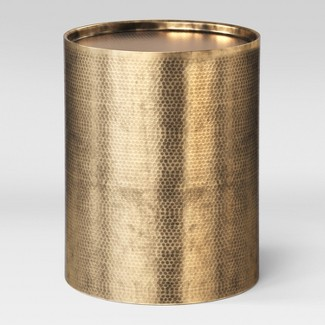 Manila Cylinder Drum Accent Table Brass - Project 62™