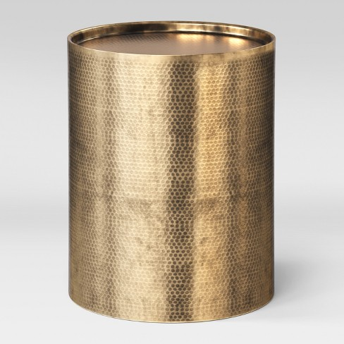 Manila Cylinder Drum Accent Table Gold - Project 62™ - image 1 of 3