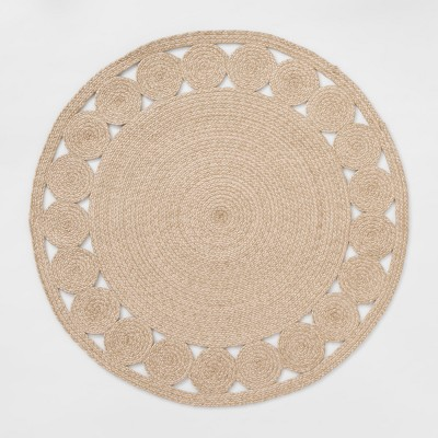 6 Round Ornate Woven Outdoor Rug Opalhouse