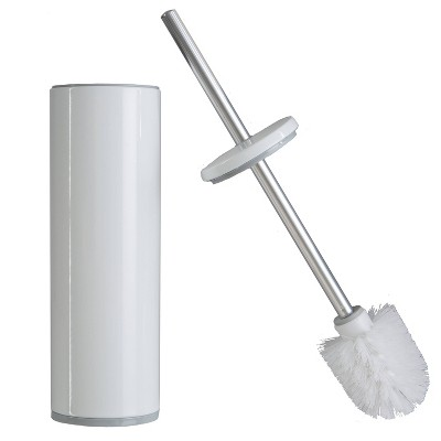 Deluxe Aluminum Handle Toilet Brush with Fully Removable Liner White - Bath Bliss