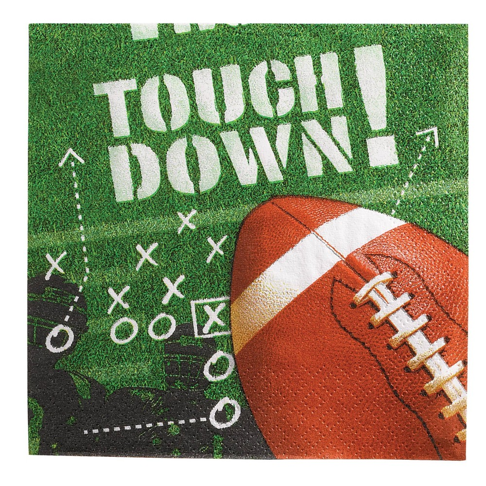 Image of 100ct Touchdown Beverage Napkins
