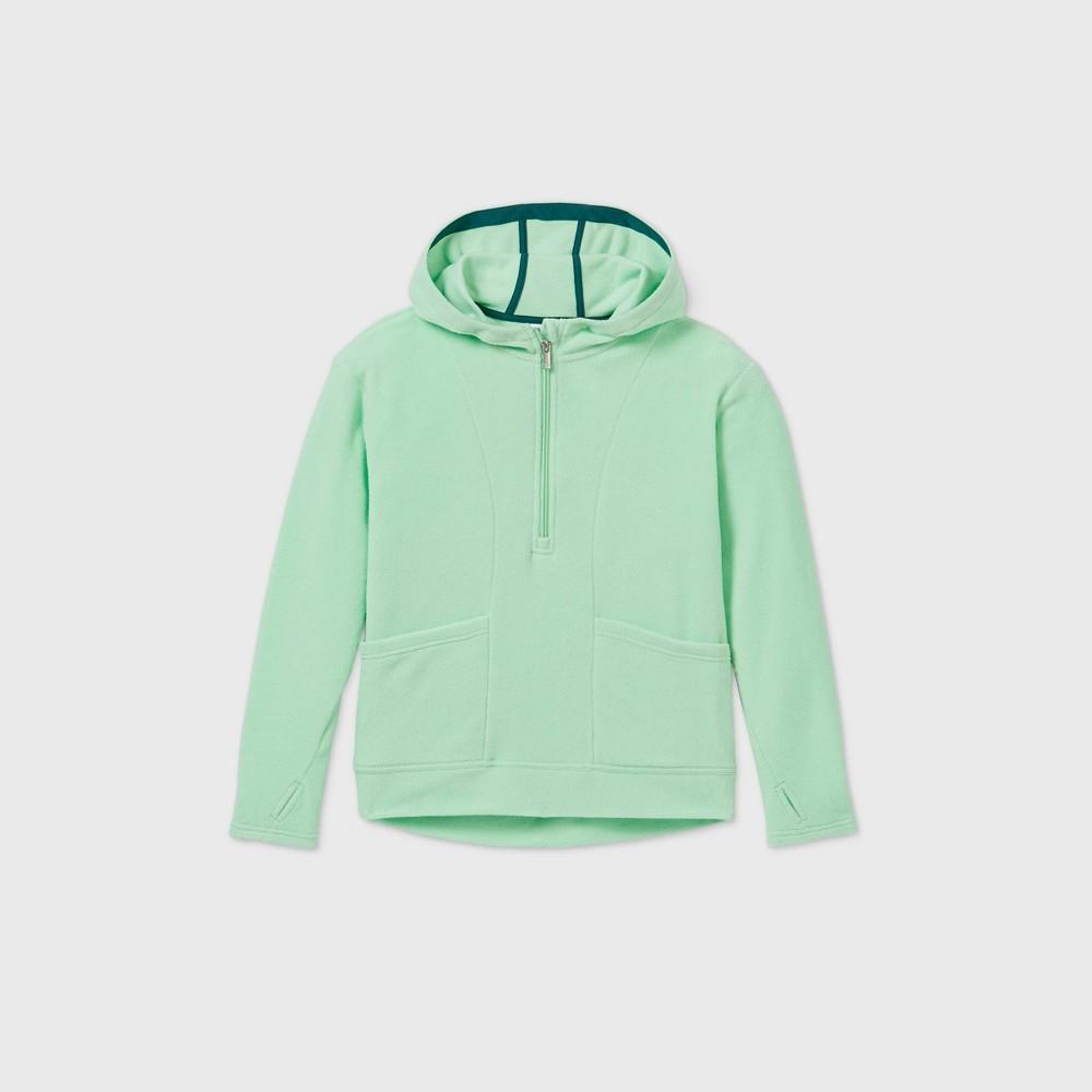 Girls 39 Fleece 1 4 Zip Sweatshirt All In Motion 8482 Mint Green Xxl