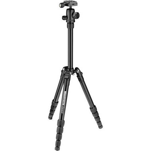Manfrotto Element Traveler Small 5-Section Aluminum Tripod with Ball Head, Holds 8.8 Lbs, Extends to 53 , Black - image 1 of 3