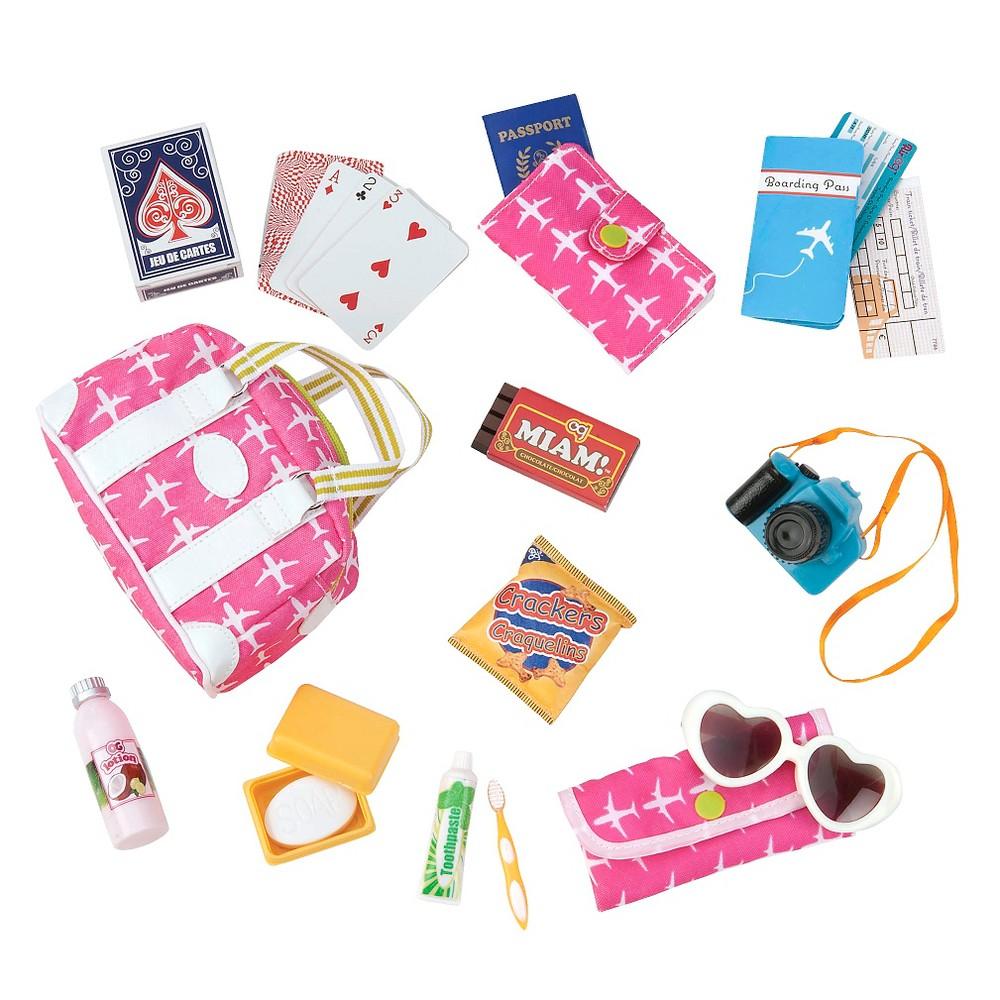 Our Generation Travel Bag Accessory Set For 18 34 Dolls Bon Voyage