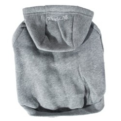 Fashion Plush Cotton Pet Hoodie Hooded Sweater - Gray