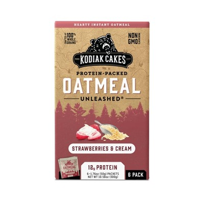 Kodiak Cakes Strawberries and Cream Oatmeal Packet 10.58oz