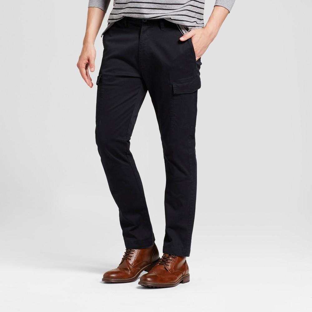 Men's Slim Fit Cargo Pants - Goodfellow & Co Black 42X32