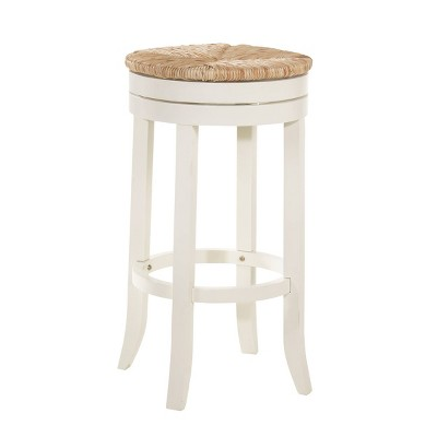 "30"" Leif Swivel Rush Seat Barstool Antique - Carolina Chair & Table"