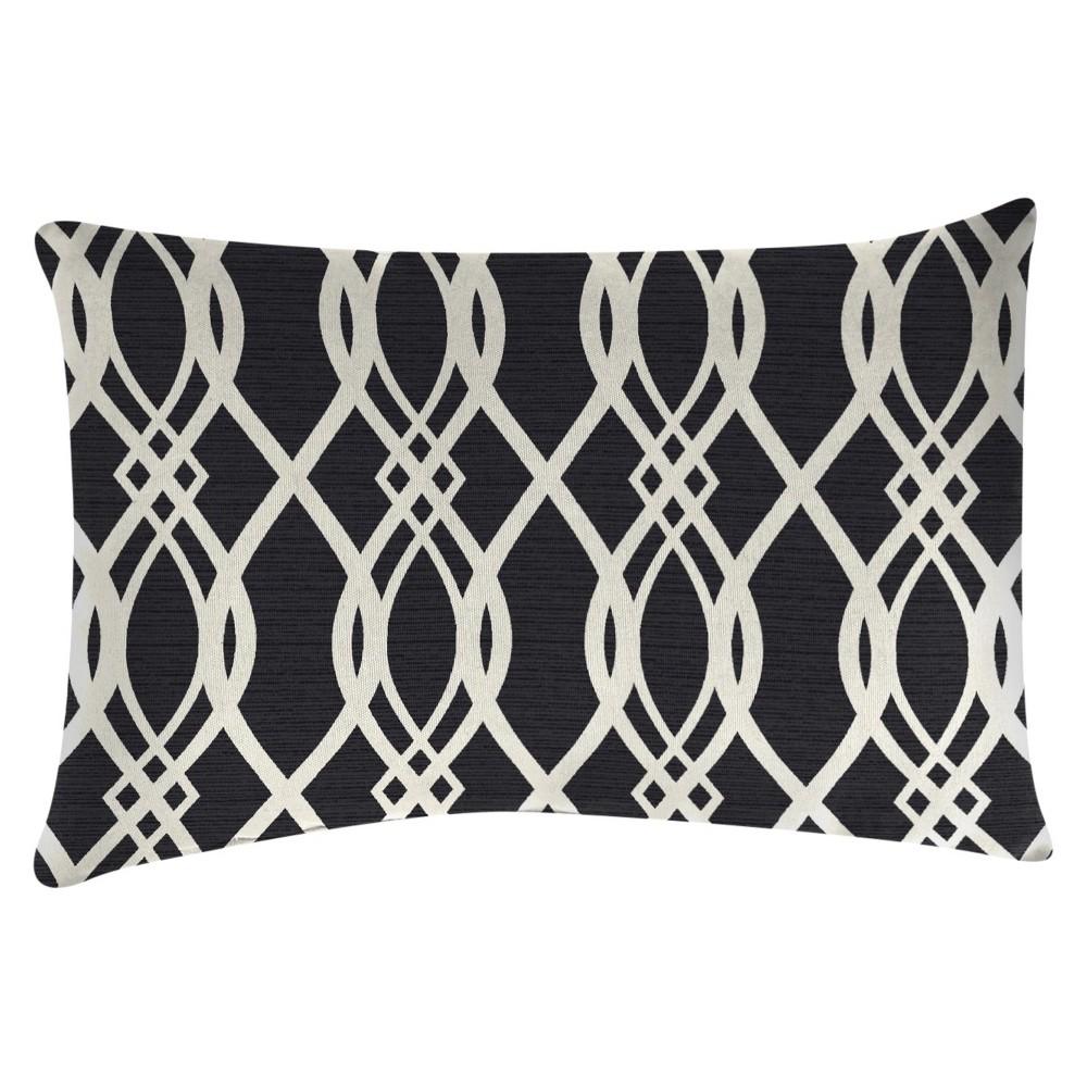 Outdoor Throw Pillow Set Jordan Manufacturing Black White