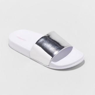 Women's Misty Slide Sandal - Xhilaration™ White 10