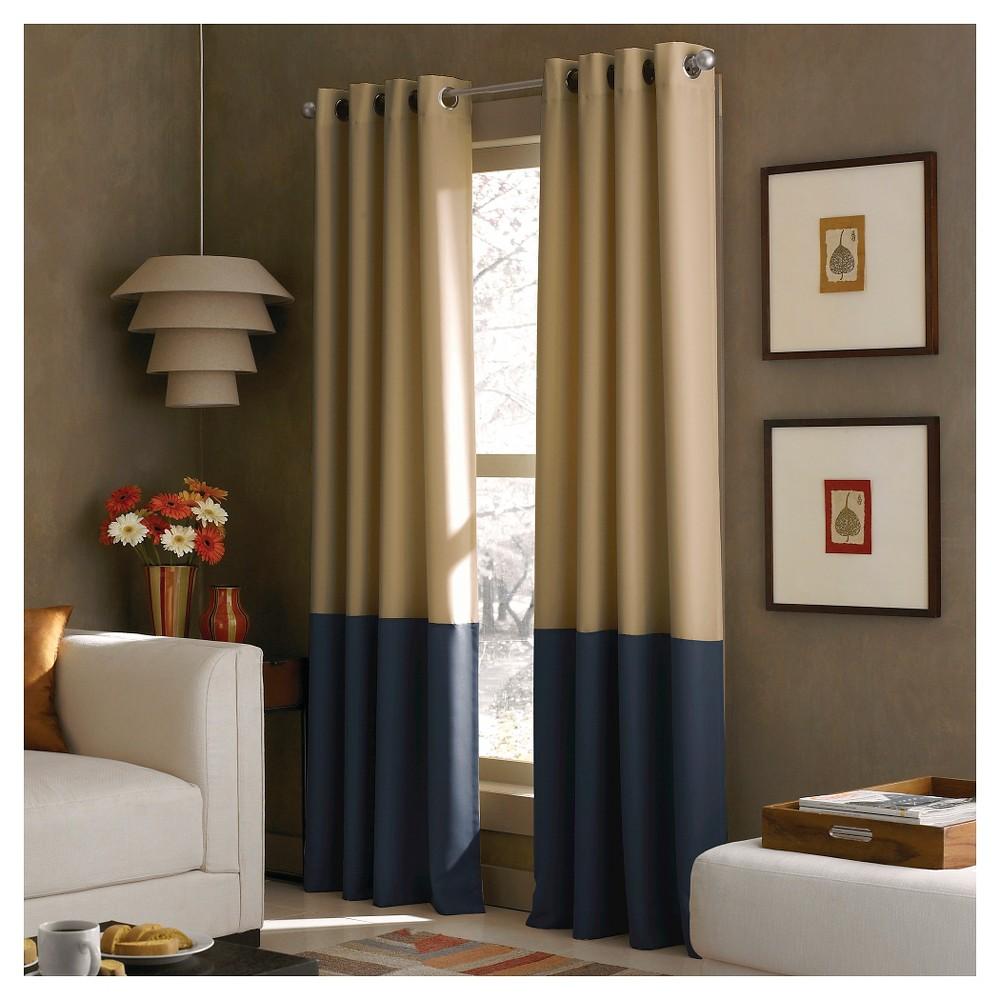 Curtainworks Kendall Lined Curtain Panel - Khaki (Green) (63)