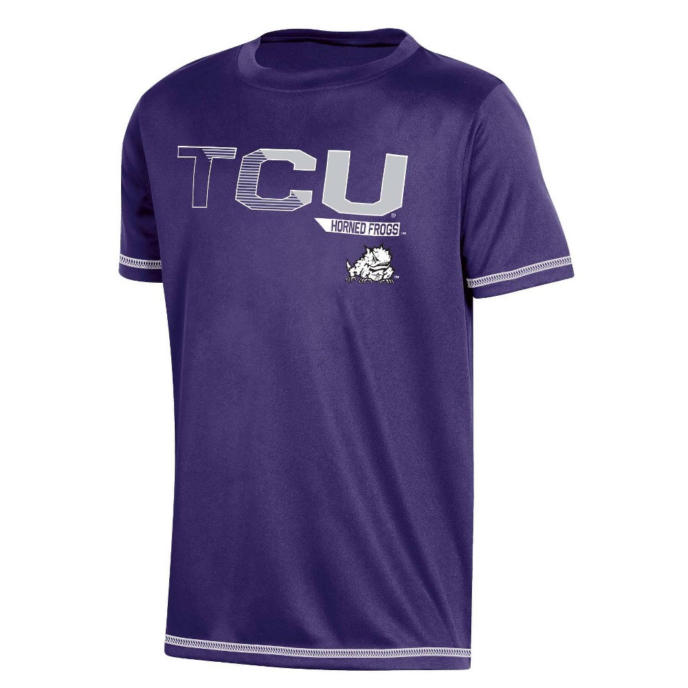 Ncaa Tcu Horned Frogs Boys 39 Short Sleeve Crew Neck T Shirt S