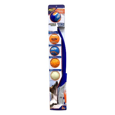"""NERF Air Strike Thrower with 5 Balls Dog Toy - 25"""""""