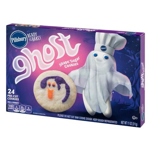 Pillsbury Ready To Bake Ghost Shape Sugar Cookies 24ct 11oz