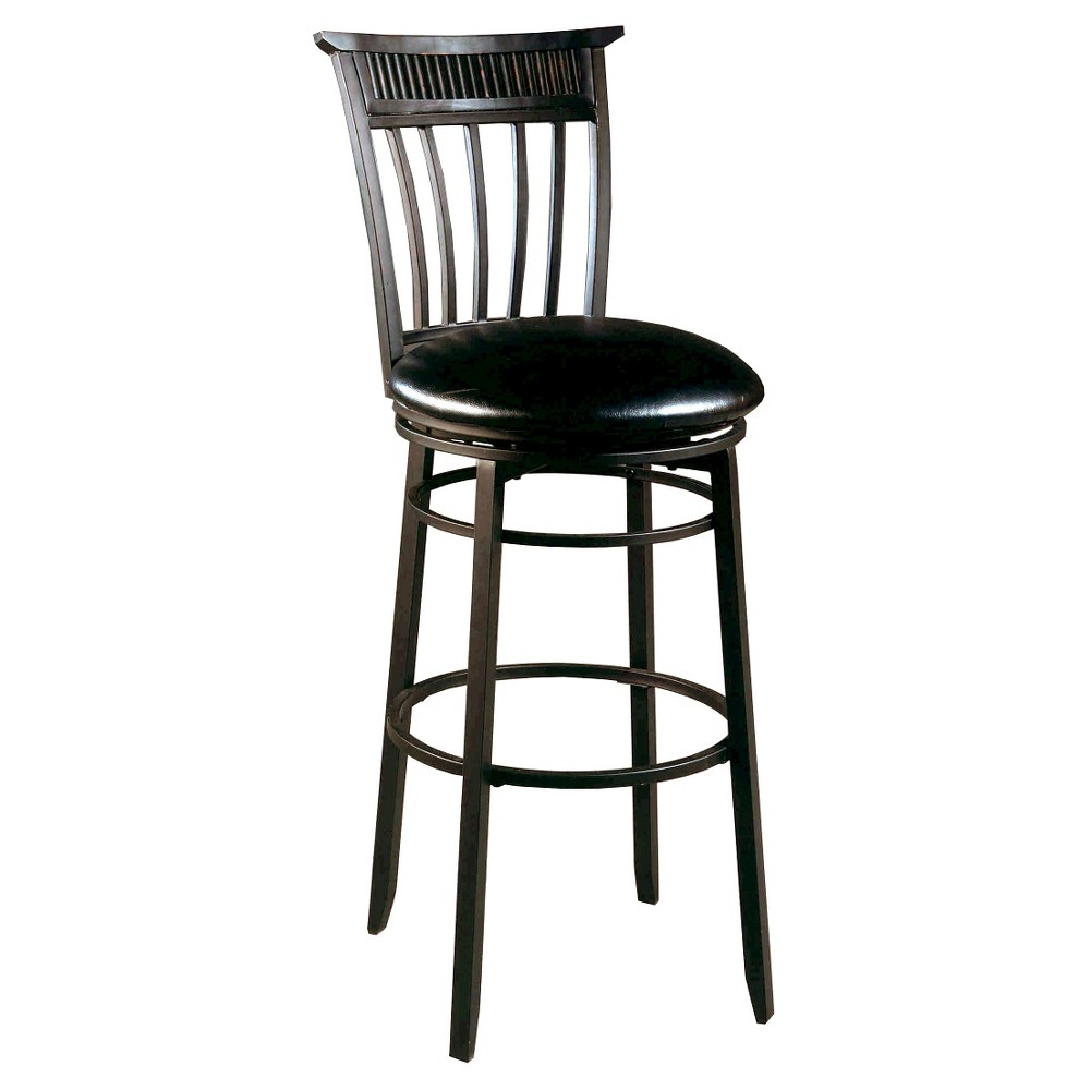 30 Cottage Swivel Barstool Metal/Black - Hillsdale Furniture