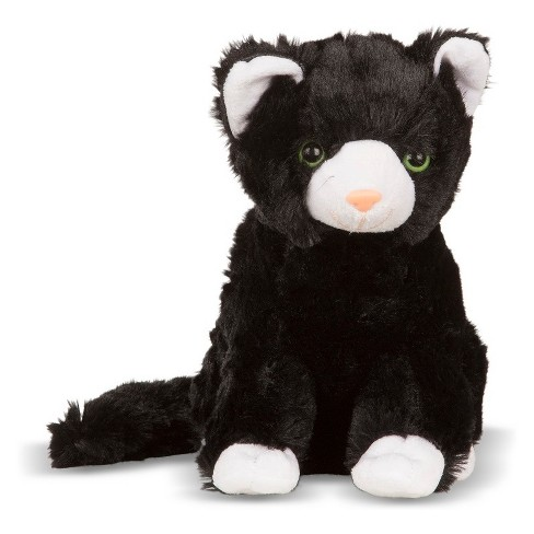 Melissa Doug Midnight Cat Stuffed Animal Target