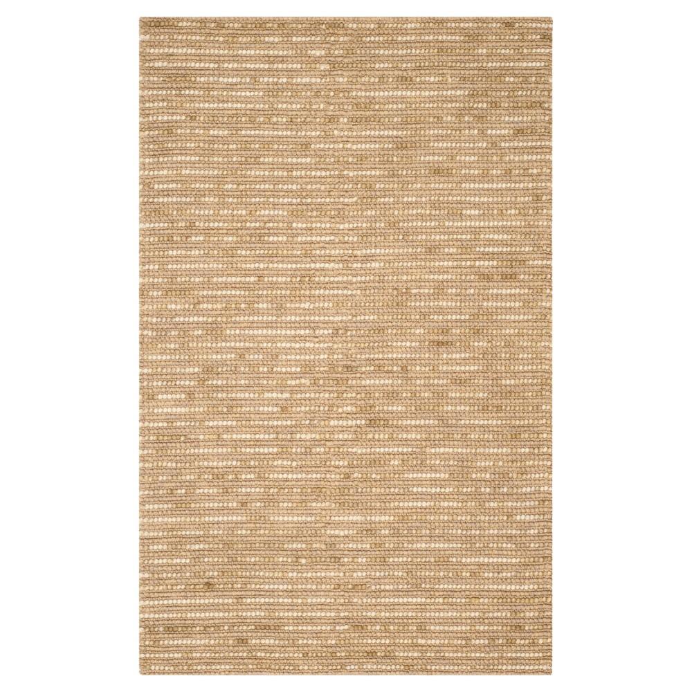 Beige Stripe Woven Area Rug - (4'X6') - Safavieh, Beige/Multicolor