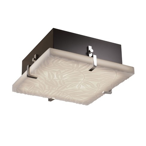 """Justice Design Group PNA-5555-BMBO Porcelina Collection 13"""" Wide Clips Flush-Mount/Wall Sconce - image 1 of 1"""