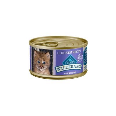 Blue Buffalo Wilderness 100% Grain Free Kitten Wet Cat Food - 3oz