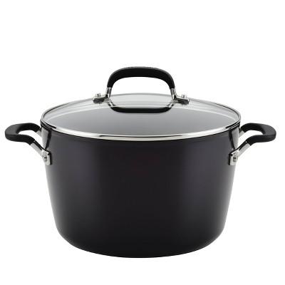 KitchenAid 8qt Hard Anodized Stock Pot Black