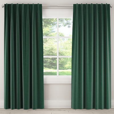 84L Linen Unlined Curtain Panel Green - Skyline Furniture