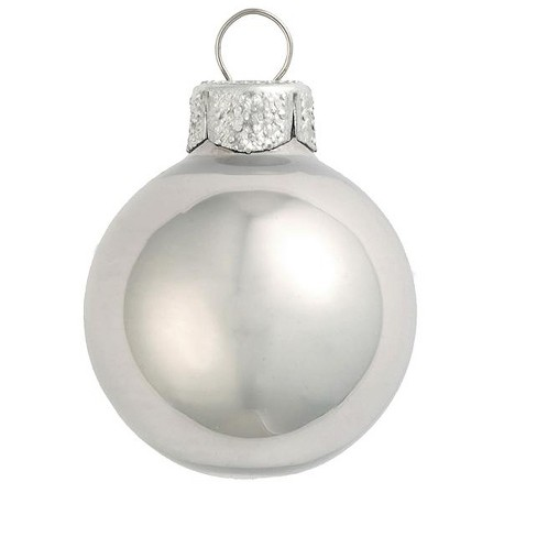 """Northlight 40ct Pearl Glass Ball Christmas Ornament Set 1.5"""" - Mercury Silver - image 1 of 1"""
