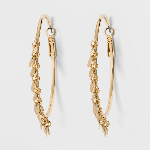Sugarfix By Baublebar Hoop With Gold Coins Earrings