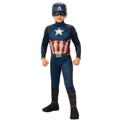 Boys' Marvel Captain America Deluxe Muscle Halloween Costume