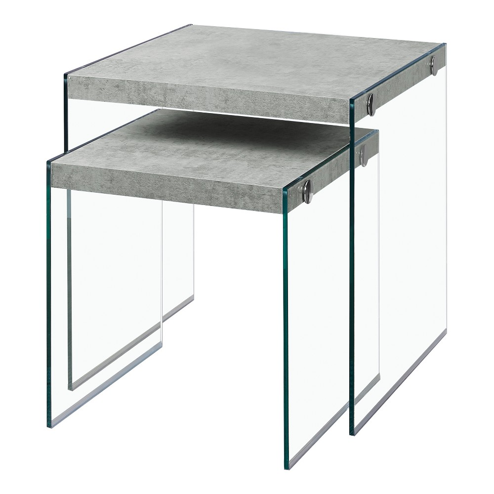 Nesting Table - Grey Cement - EveryRoom, Gray