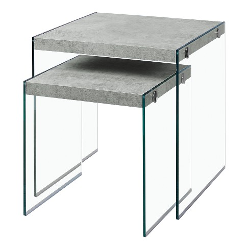 Nesting Table - Grey Cement - EveryRoom - image 1 of 2