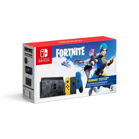 Nintendo Switch Fortnite Edition with Yellow and Blue Joy-Con - image 1 of 4